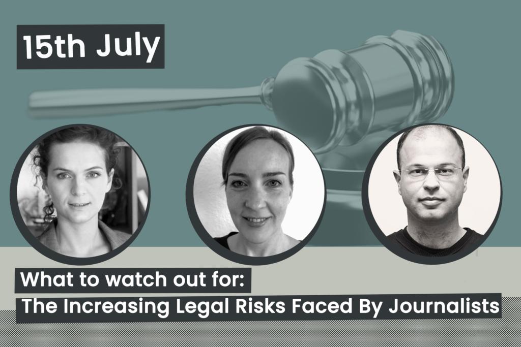 Evento: Los crecientes riesgos legales a los que se enfrentan los periodistas